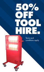 50% Off Tool Hire